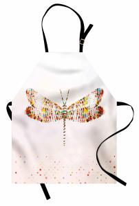 Noktalı Yusufçuk Mutfak Önlüğü Sanatsal Yusufçuk