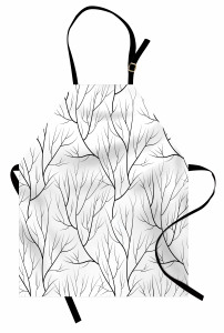 Ağaç Dalları Mutfak Önlüğü Sonbahar Temalı Ağaç Dalları