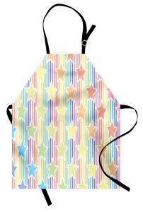 Rengarenk Yıldız Mutfak Önlüğü Çizgili Trend