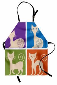 Sevimli Rengarenk Kedi Mutfak Önlüğü Sevimli Kedi Rengarenk