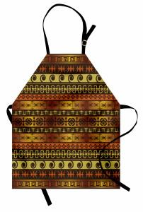 Kahverengi Etnik Mutfak Önlüğü Kahverengi Turuncu