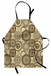 Leopar Mandala Mutfak Önlüğü Etnik Desenli Leopar Mandala