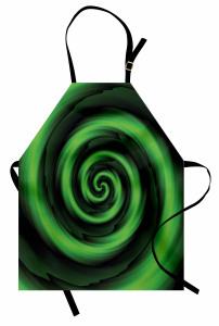 Sarı Yeşil Girdap Mutfak Önlüğü Şık Tasarım