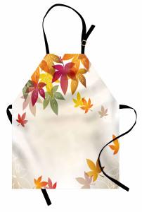 Sonbahar Yaprakları Mutfak Önlüğü Yapraklar Çeyizlik Bej