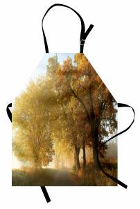 Sonbahar Ağaçları Mutfak Önlüğü Sonbahar Ağaçlar