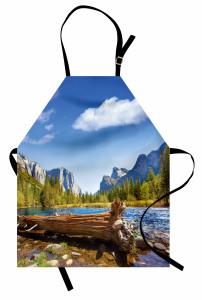 Huzurlu Doğa Mutfak Önlüğü Nehir Orman Dağ