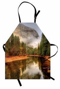 Sisli Ormandaki Göl Mutfak Önlüğü Doğal Cennet Orman Dere