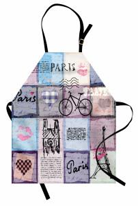 Paris ve Aşk Mutfak Önlüğü Aşk Mektubu Eyfel Kulesi