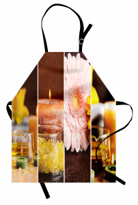 Aroma Terapi Mutfak Önlüğü Aromatik Terapi Pembe Çiçek