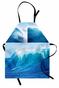 Dalgaları Aşmak Mutfak Önlüğü Deniz Dalgalarında Sörf Temalı
