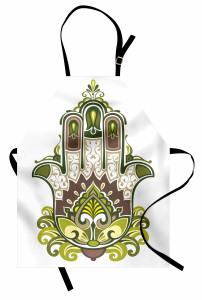Büyük Fatımanın Eli Mutfak Önlüğü Yeşil Mor