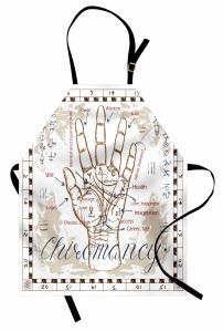 El ve Sembol Desenli Mutfak Önlüğü Bej Arka Planlı