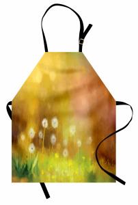 Şık Karahindiba Desenli Mutfak Önlüğü Karahindiba Desenli Sarı