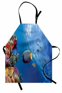 Tropikal Balıklar Mutfak Önlüğü Tropikal Balıklar
