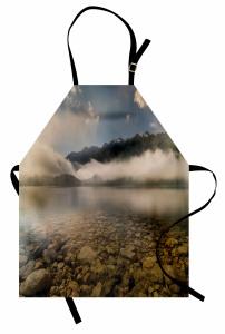 Sisli Göl ve Dağlar Mutfak Önlüğü Dağlar Bulutlar