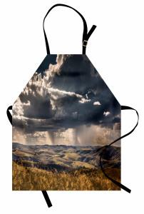 Bulutlu Tepeler Mutfak Önlüğü Dağ Bulut