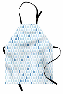 Yağmur Zamanı Mutfak Önlüğü Yağmur Damlacıklı Şık Tasarım