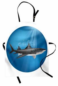 Su Altı Avcısı Mutfak Önlüğü Sualtı Avcısı Mavi