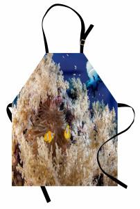 Su Altındaki Balıklar Mutfak Önlüğü Balıklar Mavi