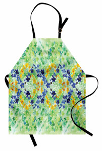 Minik Vintage Çiçekler Mutfak Önlüğü Rengarenk Çiçek Desenli Bahar