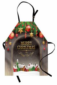 Noel Temalı Mutfak Önlüğü Kar Kulübe Yılbaşı Süsü