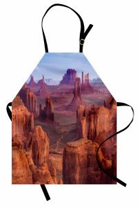 Kanyon Manzaralı Mutfak Önlüğü Çöl Kahverengi Amerika