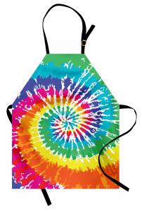 Rengarenk Girdap Mutfak Önlüğü Şık Tasarım