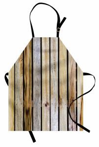 Dekoratif Ahşap Çit Mutfak Önlüğü Kahverengi
