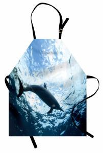Deniz ve Yunus Mutfak Önlüğü Yunus Mavi