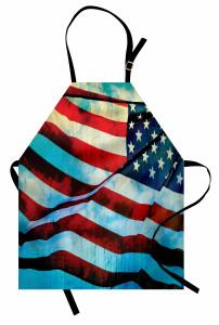Dalgalanan ABD Bayrağı Mutfak Önlüğü Dekoratif