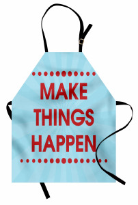 İlham Verici Mutfak Önlüğü Kırmızı Mavi Şık Tasarım