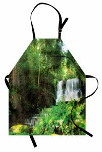 Ormanda Huzur Temalı Mutfak Önlüğü Yeşil Ağaç