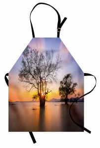 Ağaç ve Gökyüzü Temalı Mutfak Önlüğü Ağaçlar