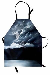 Karanlık Deniz Dolunay Mutfak Önlüğü Siyah