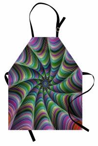 Rengarenk Desenli Mutfak Önlüğü Fraktal Geometrik