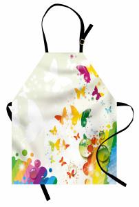 Kelebek ve Damla Mutfak Önlüğü Rengarenk Şık