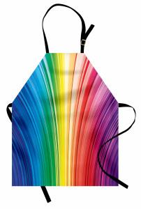 Rengarenk Çizgili Mutfak Önlüğü Geometrik Desenli Şık