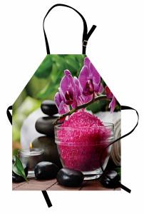 Mor Orkide ve Tuz Mutfak Önlüğü Spa Efektli