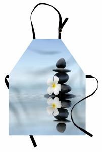 Su İçinde Çiçek ve Taş Mutfak Önlüğü Şık