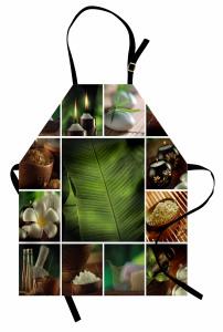Dinlendirici Uzak Doğu Mutfak Önlüğü Şık Yeşil