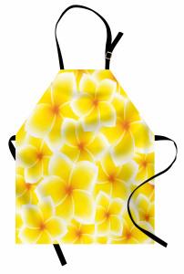 Sarı Beyaz Çiçek Mutfak Önlüğü Şık Çeyizlik