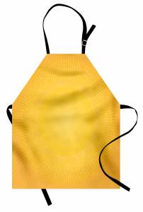 Sarı Beyaz Puantiye Mutfak Önlüğü Güneş Etkili