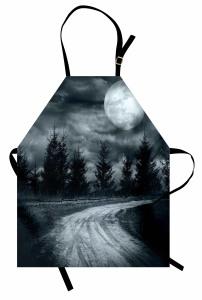 Karanlık Yol ve Dolunay Mutfak Önlüğü Gri