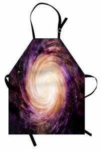 Mor Yıldızlar Desenli Mutfak Önlüğü Uzay Temalı Şık