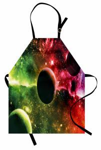 Uzayın Derinlikleri Desenli Mutfak Önlüğü Gezegenler