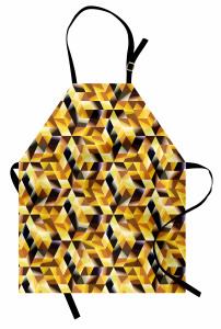 Geometrik Mozaik Mutfak Önlüğü Dekoratif Sarı