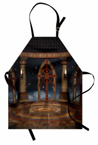 Gökyüzü Tapınağı Mutfak Önlüğü Kahverengi