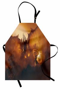 Ejderha ve Büyücü Mutfak Önlüğü Kahverengi