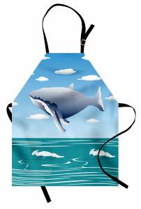 Uçan Balina ve Deniz Mutfak Önlüğü Çocuk İçin