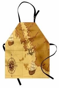 Nostaljik Harita Mutfak Önlüğü Şık